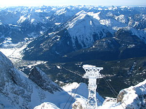 Ammergau Alps - The Daniel: Highest peak in the Ammergau, seen from the Zugspitze.
