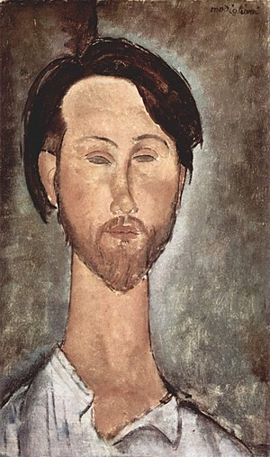 Léopold Zborowski - Portrait of Léopold Zborowski by Amedeo Modigliani