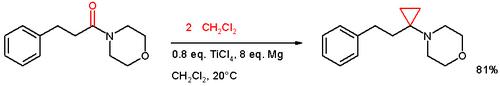 酰胺环丙烷化