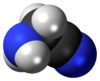 Spacefill model of aminoacetonitrile