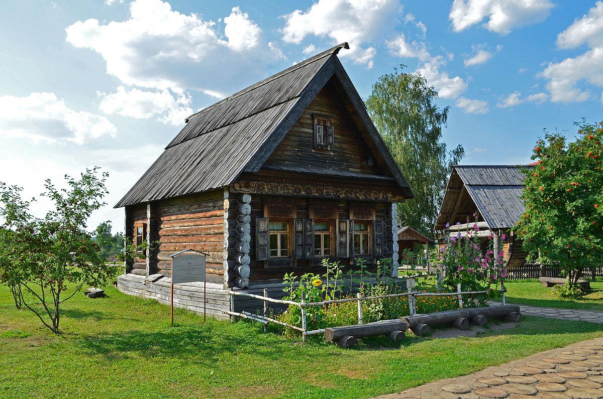 презентация как нарисовать старинный русский дом