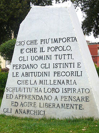 Pozzuoli - Anarchist monument.