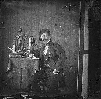 Anastas Jovanović - Anastas Jovanović self-portrait c. 1854 (collodion).