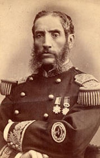 Battle of Tarapacá - Andrés Cáceres, commander of the Peruvian Zepita Nº 2 Battalion