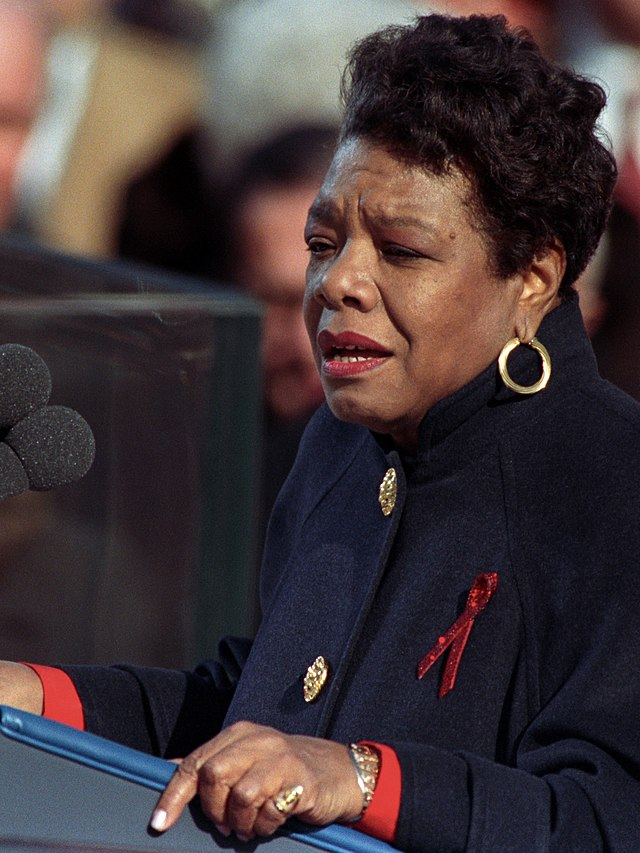 From commons.wikimedia.org: Maya Angelou at Clinton inauguration {MID-70731}