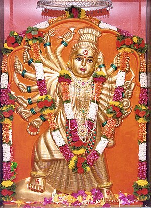 Chandi - An image of Goddess Chandika at Sri Gurukshetram