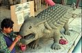 Ankylosaurus in Progress - Dinosaurs Alive Exhibition - NCSM - Calcutta 1995 455.JPG