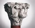 Anonyme toulousain - Chapiteau de colonne simple , Lions dans des lianes - Musée des Augustins - ME 217 (3).jpg