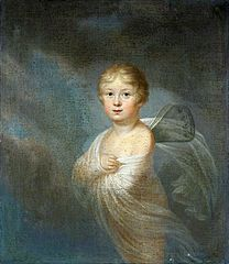 Portrait of a child as Cupid.