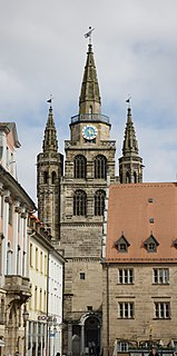 St. Gumbertus, Ansbach building in Ansbach, Middle Franconia, Germany
