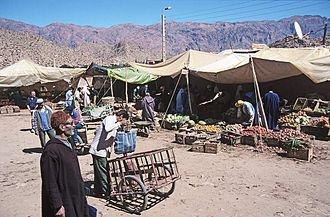 Tafraout - Image: Antiatlas westl tafraoute markt