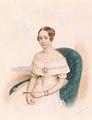Anton Hähnisch Bildnis einer jungen Dame in weißem Kleid 1844.jpg