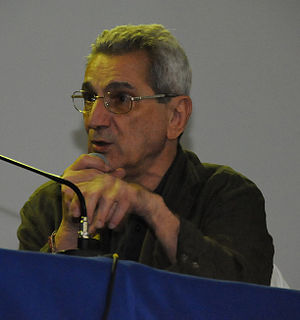 English: Antonio Negri speaking at the Seminár...