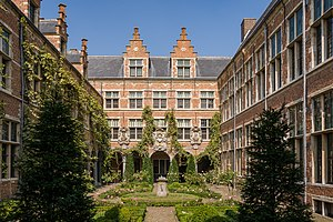 Plantin-Moretus Museum - View of the courtyard of the museum