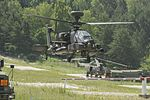 Apache Attack Helicopter from 4 Regiment Air Air Corps Taking of for mission tasking over Hohenfels Training Area MOD 45160152.jpg