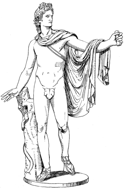 hermes statue drawing