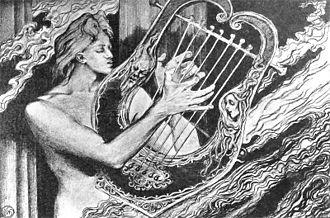Midas (Shelley play) - Apollo with his lyre by Stanisław Wyspiański (c. 1897)