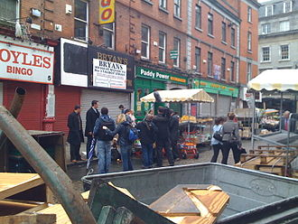 The Apprentice (Irish TV series) - Filming of the 2008 series on Moore Street in Dublin.