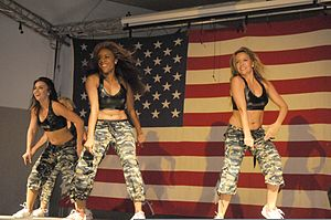 Arizona Cardinals Cheerleaders - Arizona Cardinals Cheerleaders performing at Joint Base Balad, Iraq in 2010