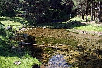 Arlanza (river) - Source of the Arlanza in Fuente Sanza (Sierra de la Demanda)