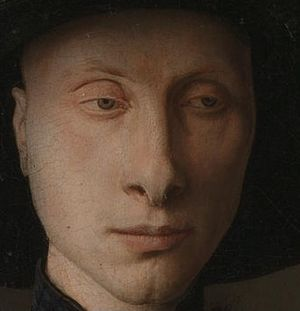 Detail Showing The Male Subject Probably Giovanni Di Nicolao Arnolfini