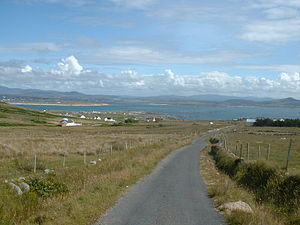 Arranmore - View of Donegal mainland from Arranmore.