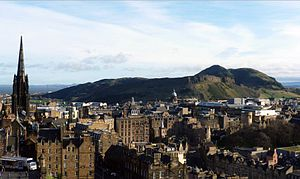 The Church of Jesus Christ of Latter-day Saints in Scotland - Arthur's Seat from Edinburgh Castle