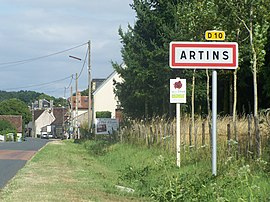 The road into Artins