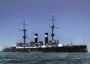 Japanese cruiser Asama - Image: Asama 1902