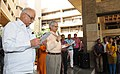 Ashok Gajapathi Raju Pusapati along with the Secretary, Ministry of Civil Aviation, Shri R.N. Choubey administering the swachhta pledge to the officers and staff of the Ministry, at the observance of Swachchta Diwas.jpg