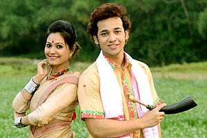 Assamese people - Image: Assamese traditional costumes