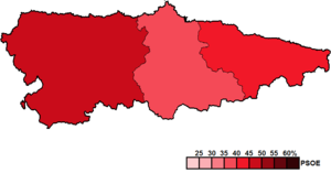 Asturian regional election, 2003 - Image: Asturias District Map Junta 2003