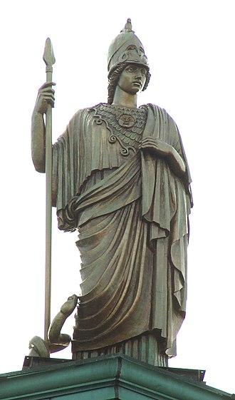Adio diBiccari - Statue of Athena sculpted by diBiccari.