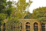 Old Lodhi Bridge (Athpula aka Khairpur ka Pul) with approaches. Built 1556 - 1605 A.D.