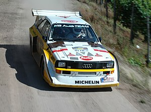 Audi Quattro - Audi Sport Quattro S1 driven during the 2007 Rallye Deutschland