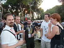 Auditorium Garden Cocktail - Wikimania 2011 P1040119.JPG