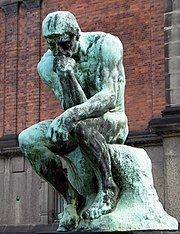 Auguste Rodin, The Thinker, Bronze, c.1902, Ny Carlsberg Glyptotek in Copenhagen, Denmark