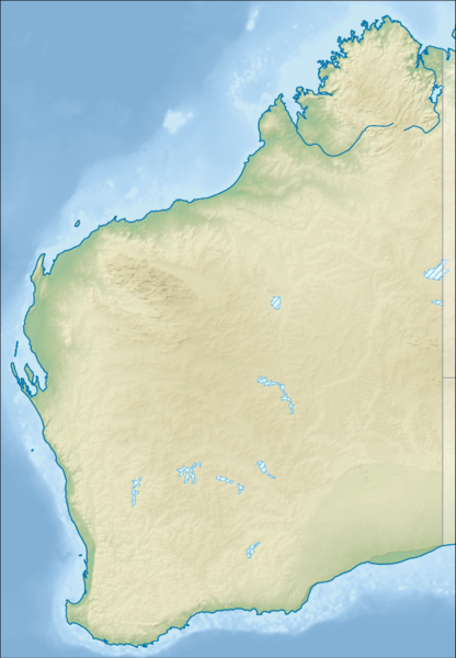 Datei:Australia Western Australia relief location map.png