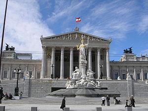 Politics of Austria - The Austrian Parliament building in Vienna