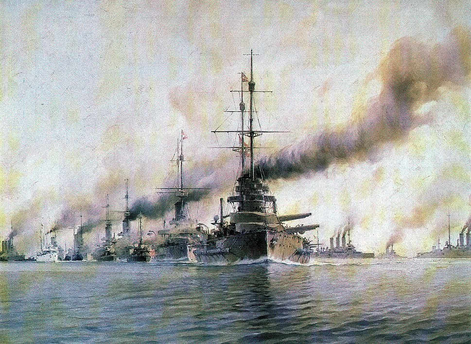 Austro-Hungarian fleet on maneuvers