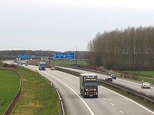 Bundesautobahn 24 - Image: Autobahn 24 Dreieck Schwerin