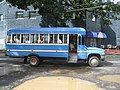 Awesome sound systems are the trademark of Pago's colourful blue buses - panoramio.jpg
