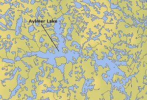 Aylmer Lake - Map