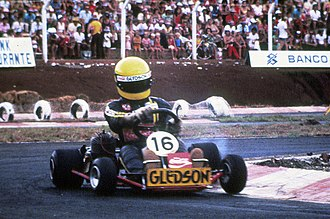 Ayrton Senna - Senna began racing go-karts in Brazil at the age of 13.