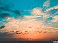 Azerbaijan bulud cloud sun sunset gun gun batimi sema azerbaycan sua erken.JPG