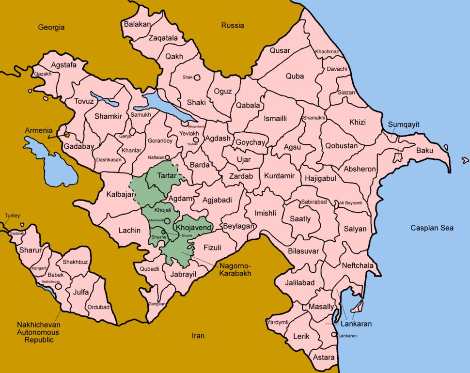 Azerbaijan districts english