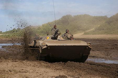 BMP-1 in mud
