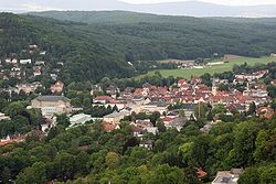 Bad Kissingen viewed from Bodenlaube ruins