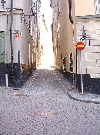 Baggensgatan - Image: Baggensgatan solgata mars 2007