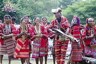 Philippine folk music - Bagobo people with their instruments at the Kadayawan Festival.